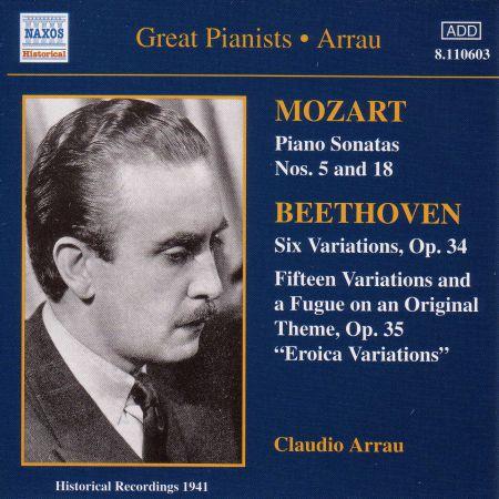 Mozart: Piano Sonatas / Beethoven: Variations (Arrau) (1941) - CD