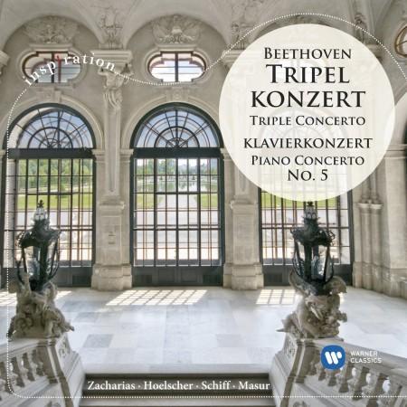 Christian Zacharias, Ulf Hoelscher, Heinrich Schiff, Gewandhausorchester Leipzig, Staatskapelle Dresden, Hans Vonk, Kurt Masur: Beethoven: Triple Concerto, Piano Concerto No. 5 - CD