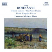 Dohnanyi: Winterreigen / 6 Piano Pieces / 3 Singular Pieces - CD
