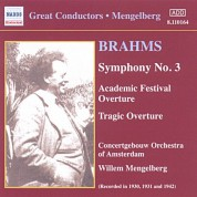Brahms: Symphonies Nos. 1 and 3 (Mengelberg) (1930-1941) - CD