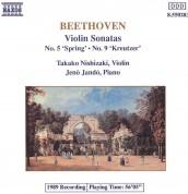 Takako Nishizaki, Jenö Jandó: Beethoven: Violin Sonatas Nos.5, 9 - CD