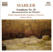 Robert Olson: Mahler, G.: Symphony No. 10 (Wheeler, 1966 version) - CD
