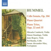Hummel: Piano Trios / Piano Quartet in G Major / Cello Sonata - CD