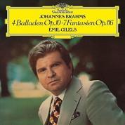 Emil Gilels: Brahms: 4 Balladen Op.10 - 7, Fantasien Op.116 - Plak