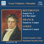 Beethoven / Franck / Lekeu: Violin Sonatas (Menuhin) (1936-1940) - CD