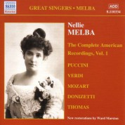 Nellie Melba: The Complete American Recordings, Vol. 1 - CD