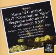Joan Rodgers, Elisabeth von Magnus, Laszlo Polgar, Arnold Schoenberg Chor, Concentus Musicus Wien, Nikolaus Harnoncourt: Mozart: Coronation Mass, Vesperae solennes - CD