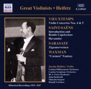 Vieuxtemps: Violin Concertos Nos. 4 and 5 (Heifetz) (1935-1947) - CD