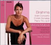 André Previn, Berliner Philharmoniker, Claudio Abbado, Heinrich Schiff, Piotr Anderszewski, Viktoria Mullova: Brahms: Violin Sonatas 1-3, Violin Concerto, Piano Trio - CD