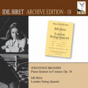 İdil Biret: Brahms: Piano Quintet in F minor, Op. 34 - CD