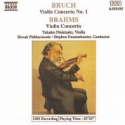 Stephen Gunzenhauser, Takako Nishizaki, Slovenská filharmónia: Brahms & Bruch: Violin Concertos - CD