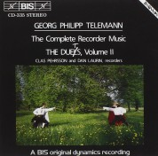 Clas Pehrsson, Dan Laurin: Telemann - Recorder Duets, Vol.II - CD