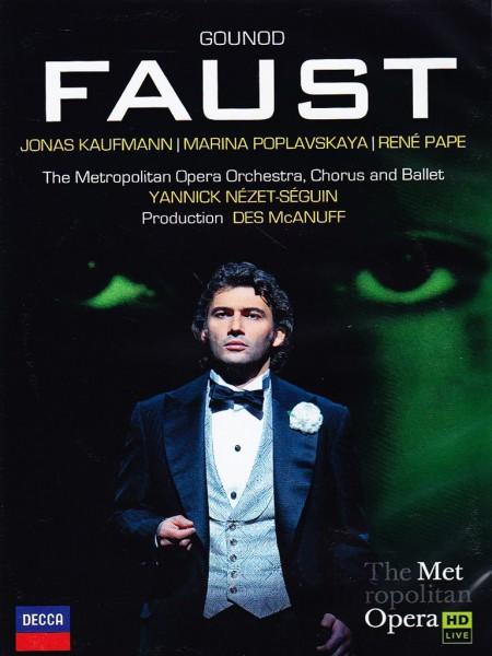Jonas Kaufmann, Marina Poplavskaya, René Pape, The Metropolitan Opera Orchestra, Chorus and Ballet, Yannick Nézet-Séguin: Gounod: Faust - DVD