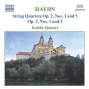 Haydn: String Quartets Op. 2, Nos. 3 and 5 / Op. 3, Nos. 1-2 - CD