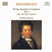 Beethoven: String Quartets Op. 18, Nos. 3 and 4 - CD
