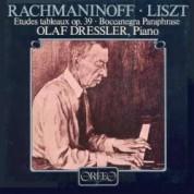 Olaf Dressler: Liszt/ Rachmaninov: Etudes Tableaux Op.39/Boccanegra-Paraphrase - Plak