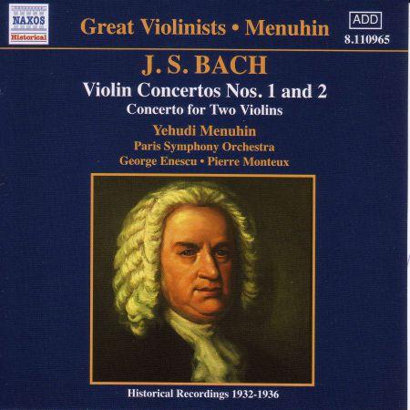 Yehudi Menuhin: Bach, J.S.: Violin Concertos Nos. 1 and 2  (Menuhin) (1932-1936) - CD