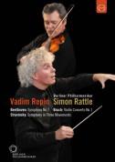 Vadim Repin, Berliner Philharmoniker, Sir Simon Rattle: Europa-Konzert 2008 from Moscow (Beethoven, Stravinsky, Bruch) - DVD