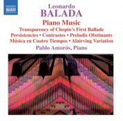 Pablo Amoros: Balada: Complete Piano Works - CD
