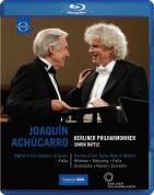 Joaquín Achúcarro, Berliner Philharmoniker, Sir Simon Rattle: Falla: Nights in the Gardens of Spain/ Piano Recital: Joaquin Achucarro (Teatro Real, 2010) - BluRay