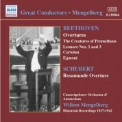 Concertgebouw Orchestra Amsterdam: Beethoven / Schubert: Overtures (Mengelberg) (1927-1942) - CD
