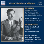 Brahms: Double Concerto / Violin Sonata No. 3 / Beethoven: Violin Sonata No. 5 (Milstein) (1950-51) - CD
