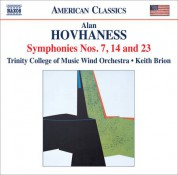Trinity College of Music Wind Orchestra: Hovhaness: Symphonies Nos. 7, 14 & 23 - CD