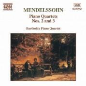 Mendelssohn: Piano Quartets Nos. 2 and 3 - CD